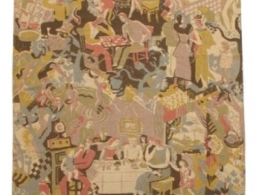 Ruth Reeves – American Scene, a Fabric with Chairs